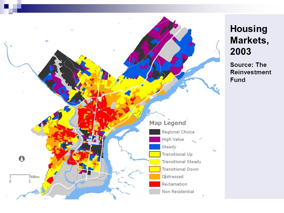 Housing Markets, 2003 Source: The Reinvestment Fund
