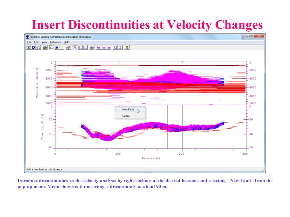 Insert Discontinuities at Velocity Changes