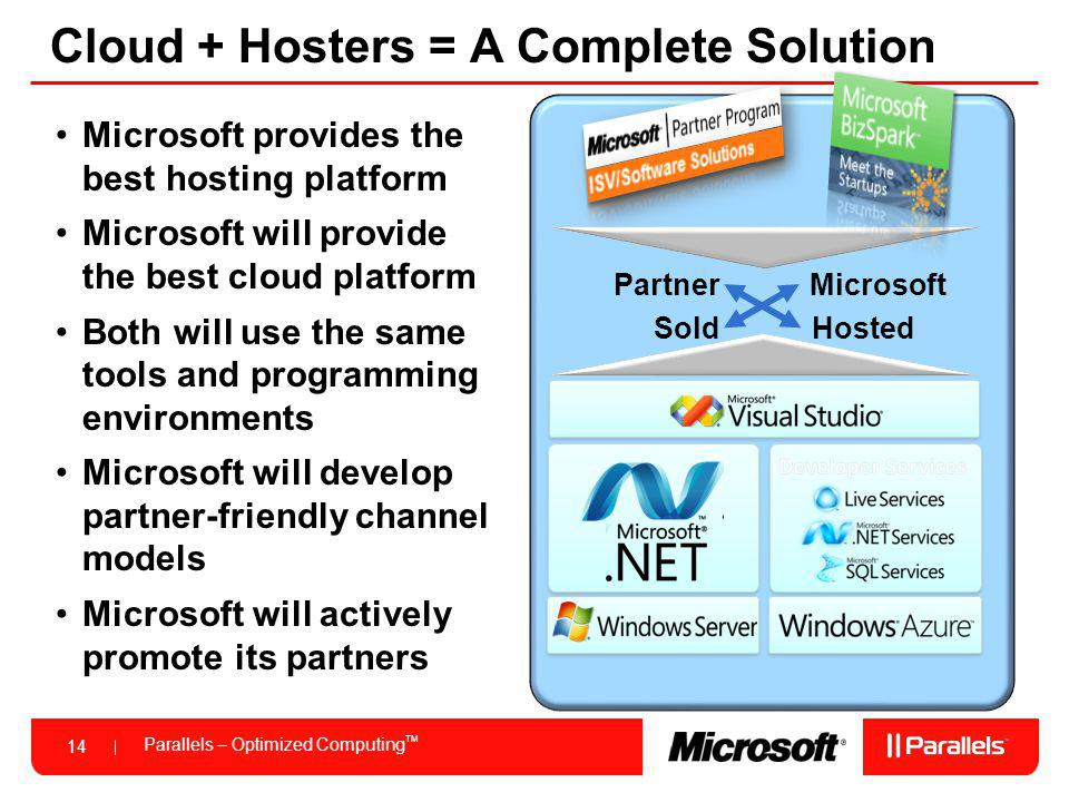 Cloud + Hosters = A Complete Solution