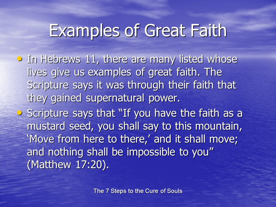 Examples of Great Faith