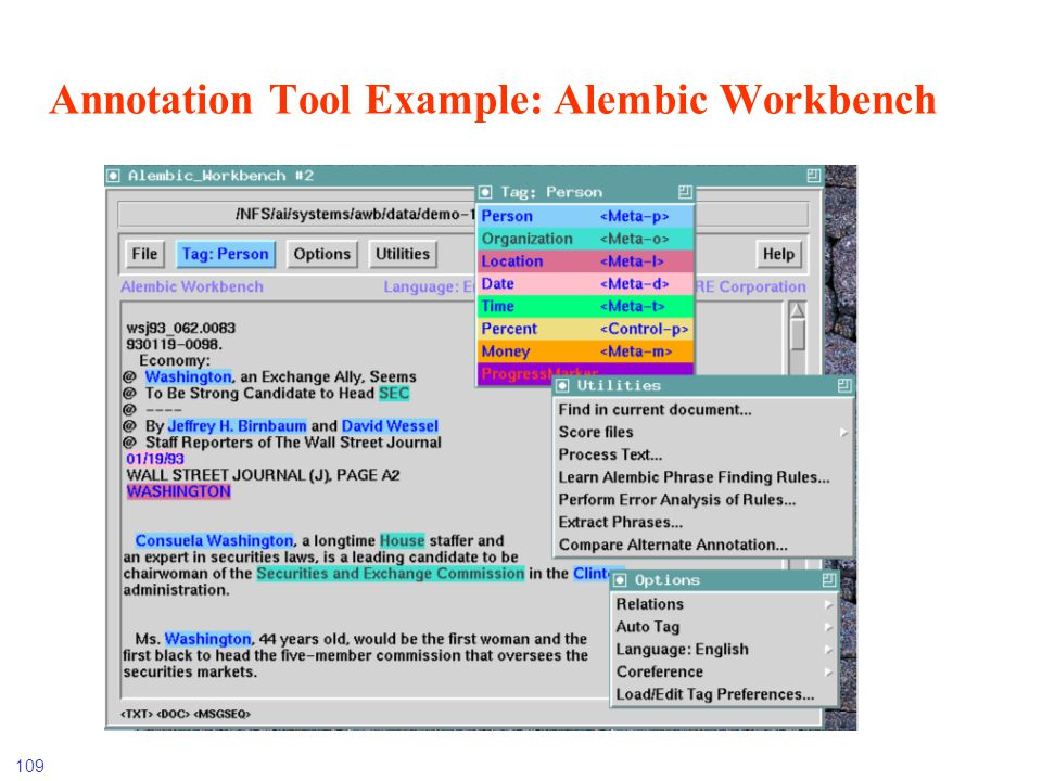 Annotation Tool Example: Alembic Workbench