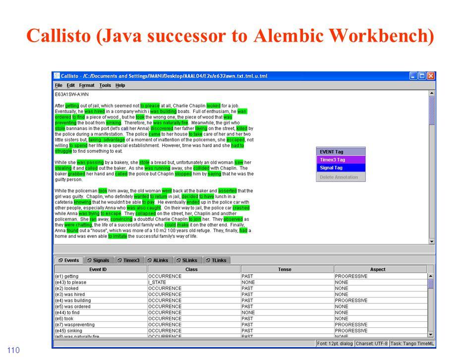 Callisto (Java successor to Alembic Workbench)