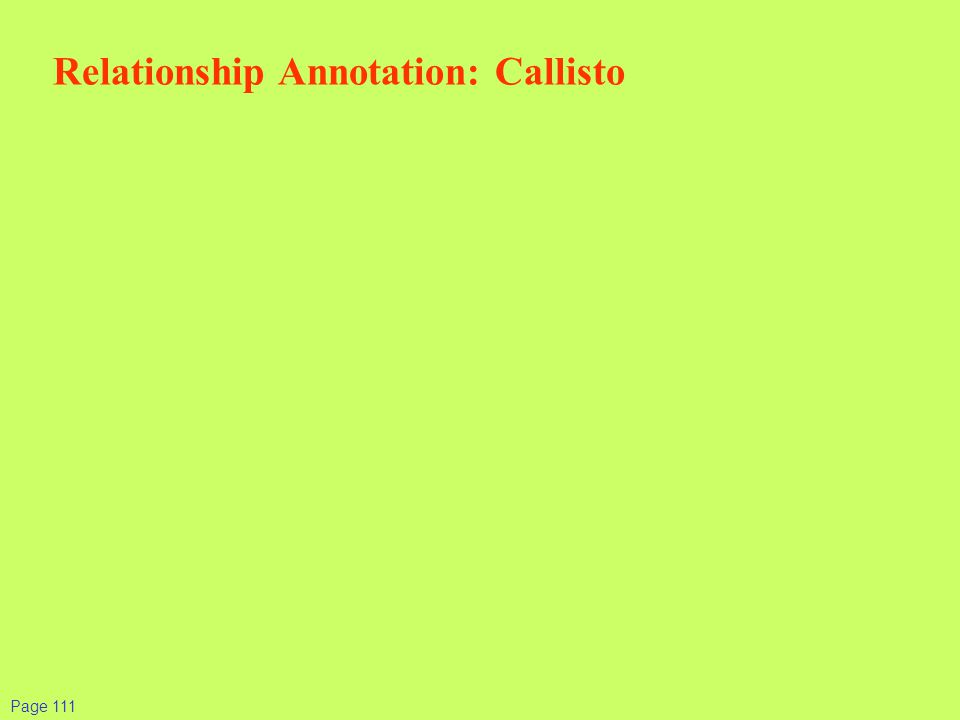 Relationship Annotation: Callisto