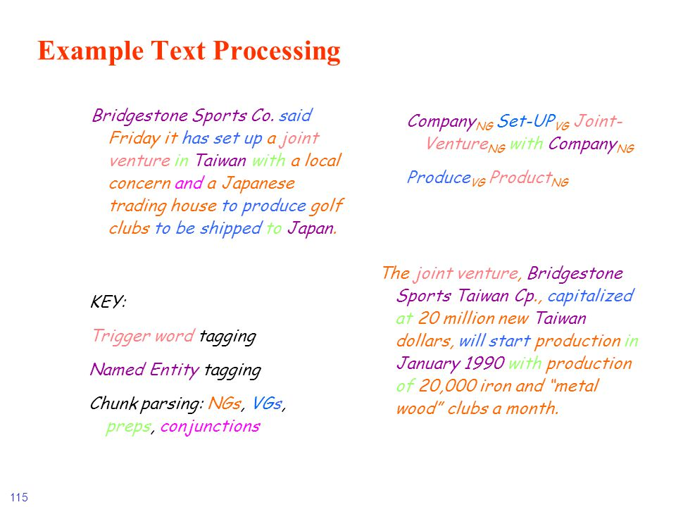 Example Text Processing