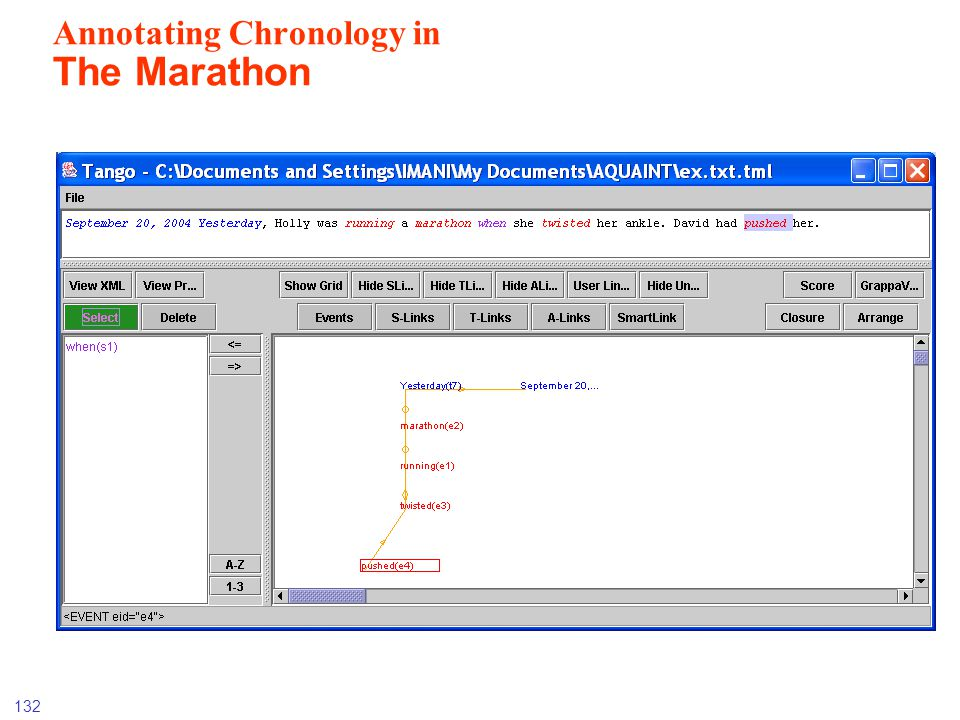 Annotating Chronology in The Marathon