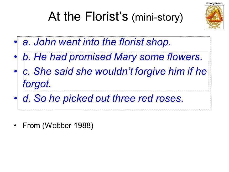 At the Florist's (mini-story)