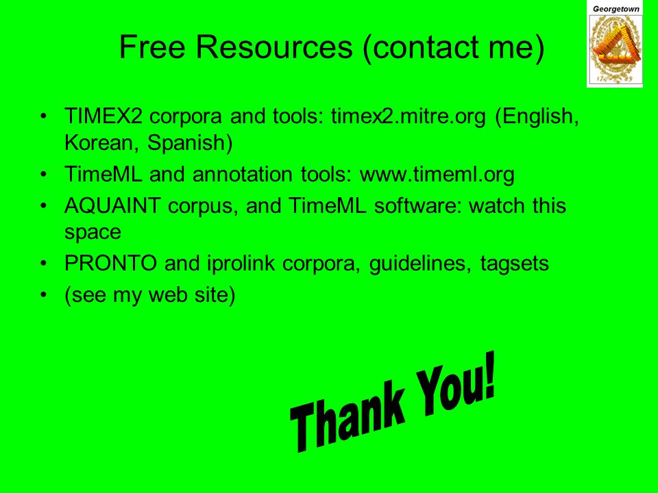 Free Resources (contact me)