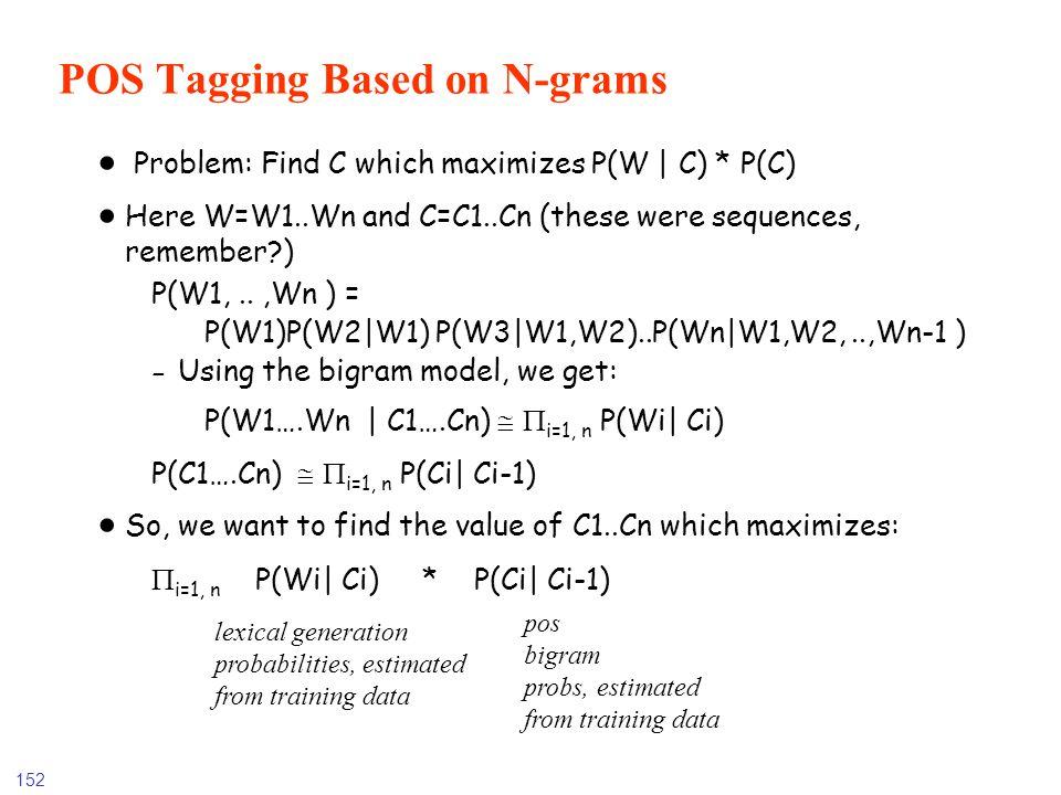 POS Tagging Based on N-grams