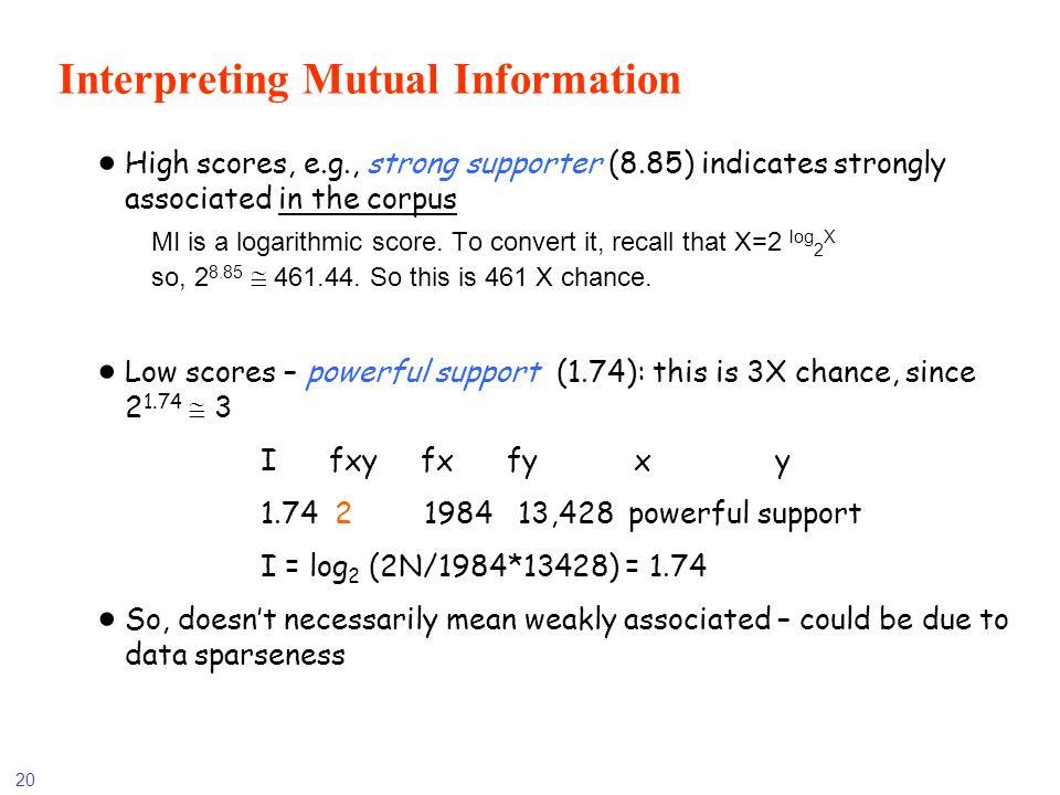 Interpreting Mutual Information