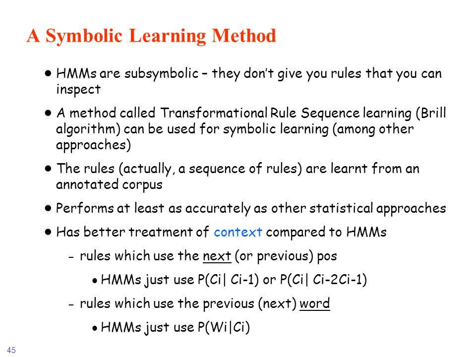 A Symbolic Learning Method