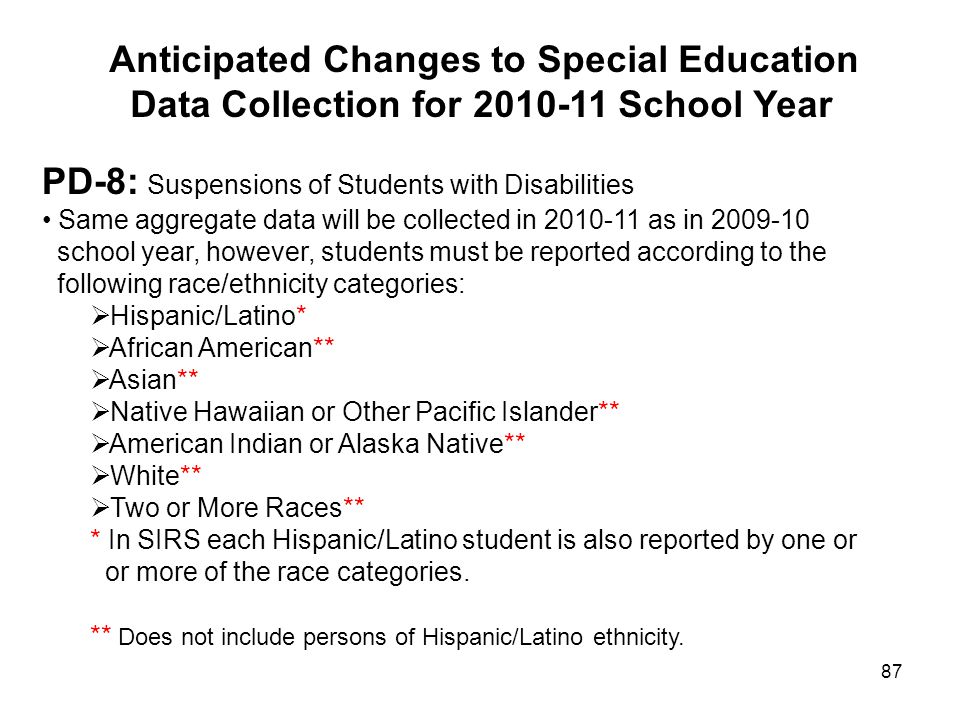 Anticipated Changes to Special Education