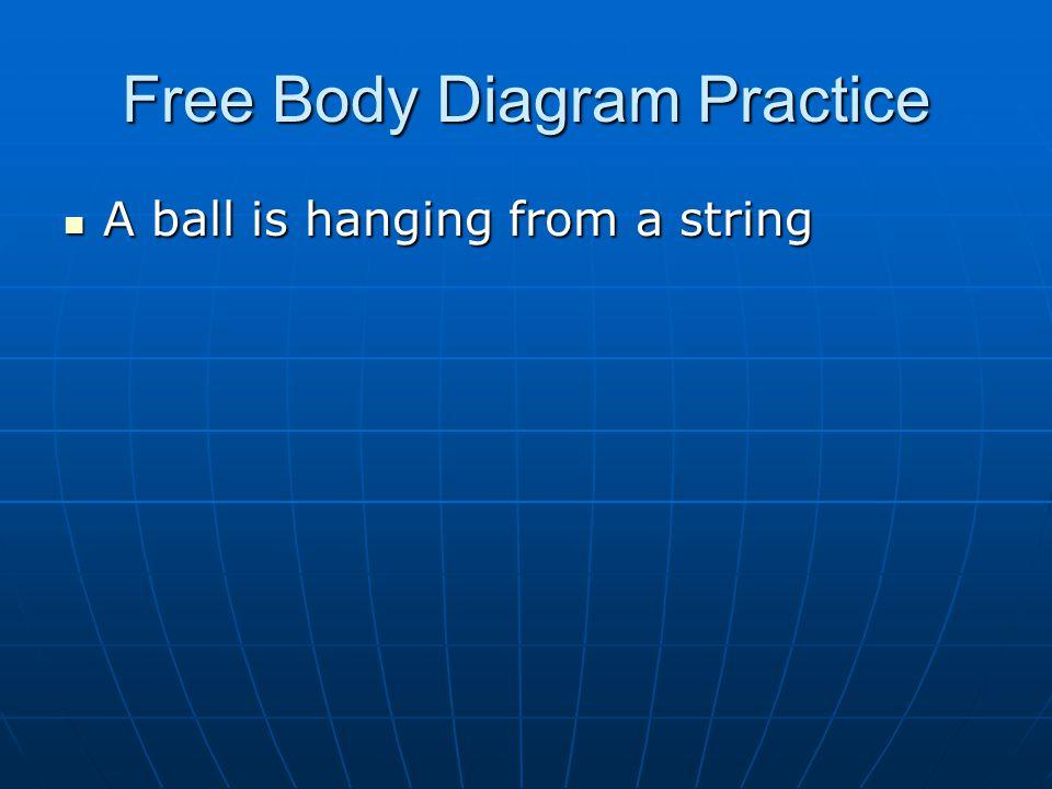Free Body Diagram Practice