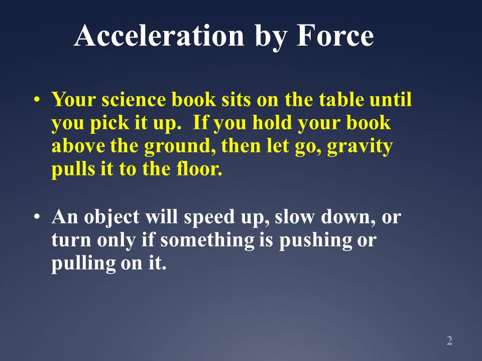 Acceleration by Force