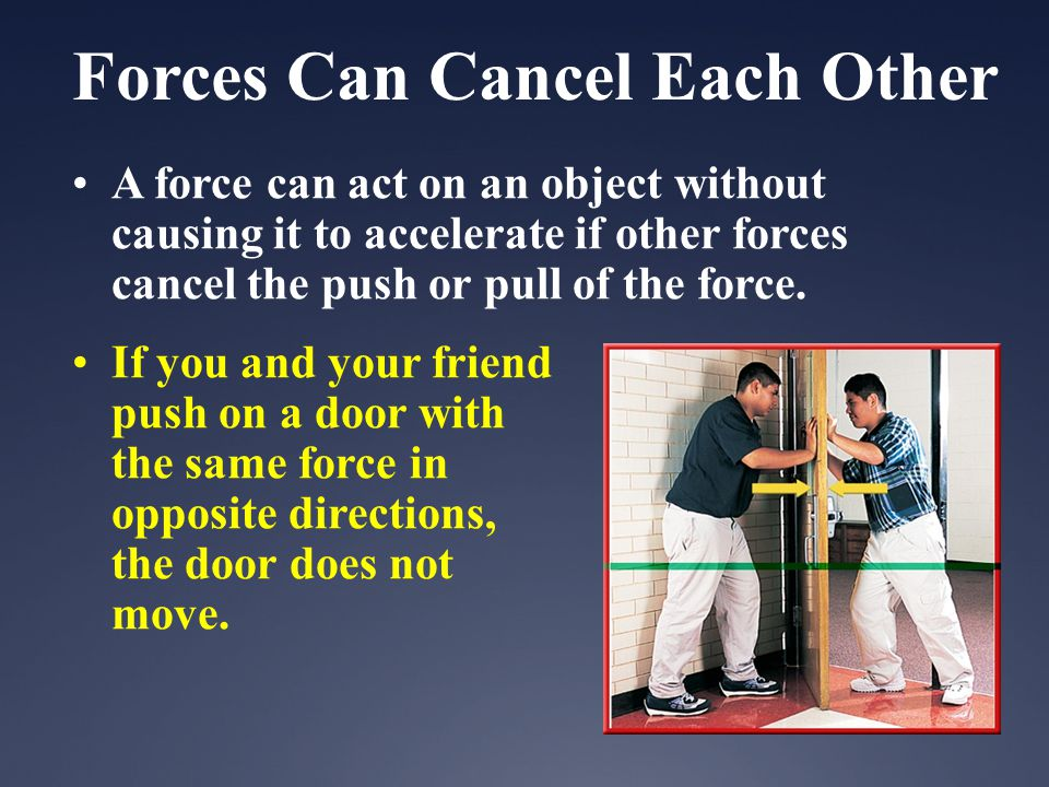 Forces Can Cancel Each Other
