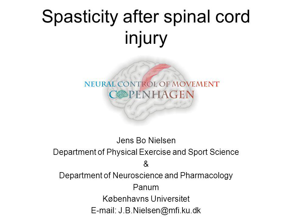 Spasticity after spinal cord injury