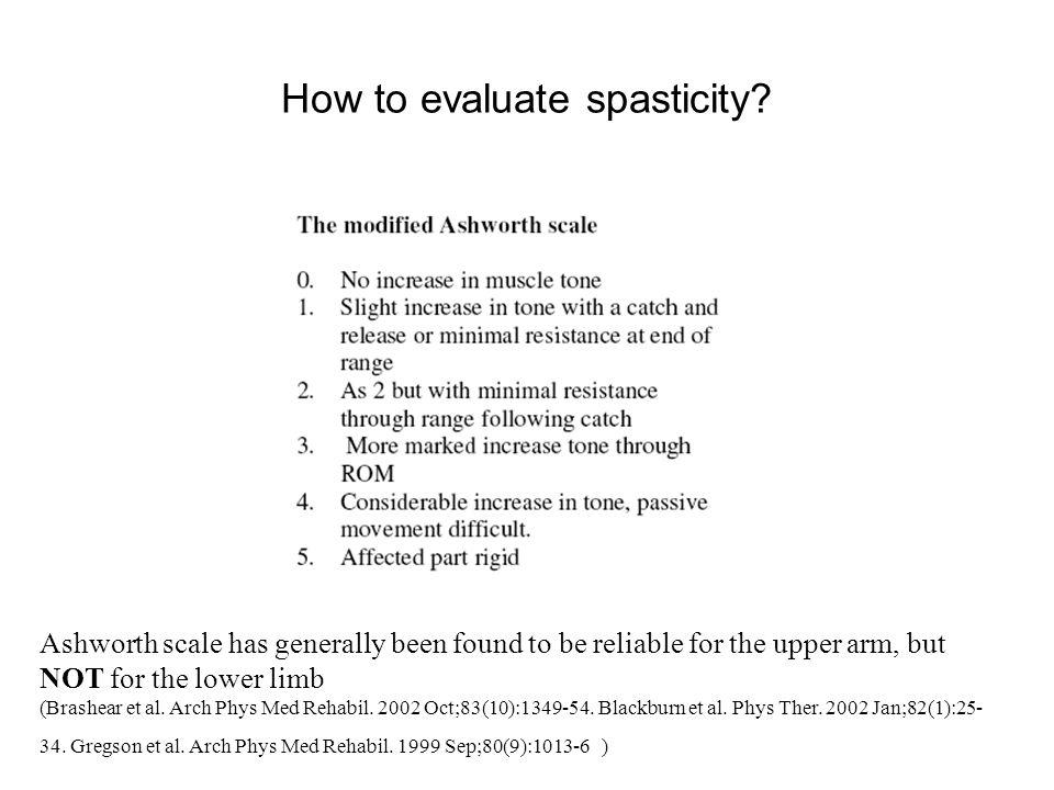 How to evaluate spasticity