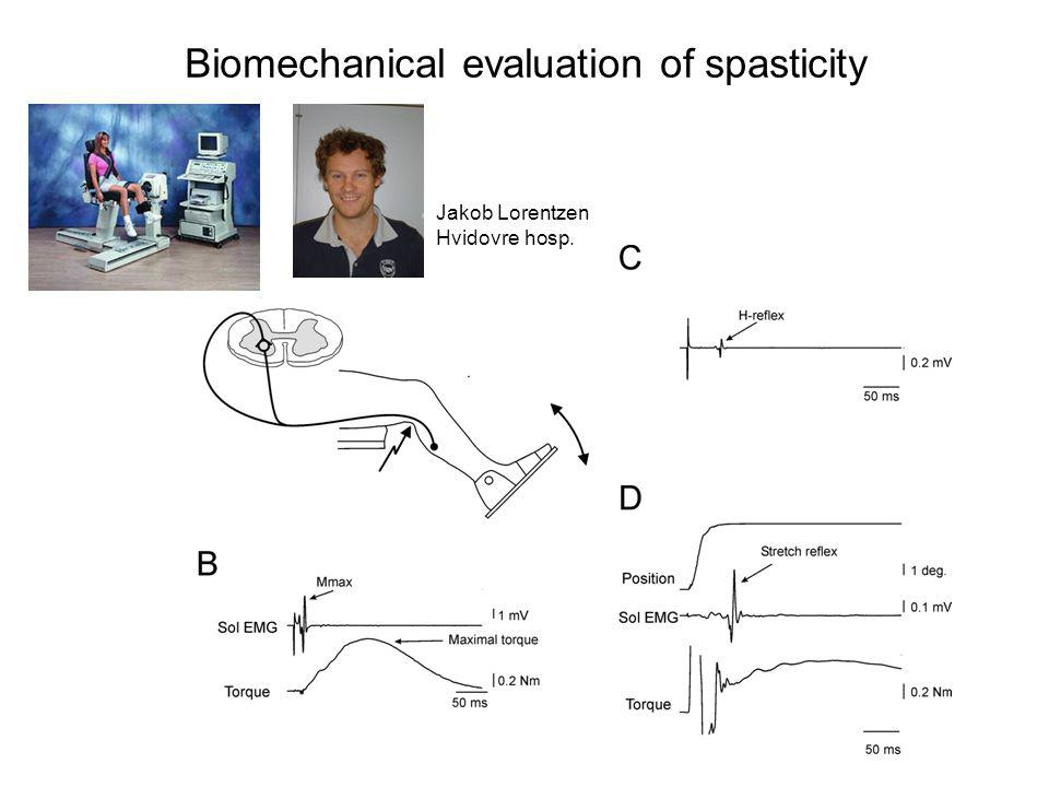 Biomechanical evaluation of spasticity
