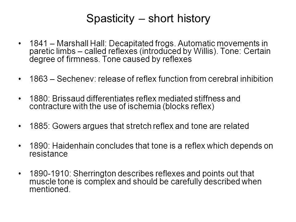 Spasticity – short history