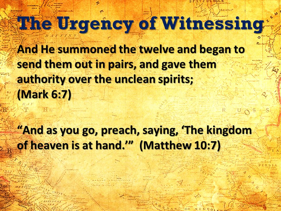 The Urgency of Witnessing