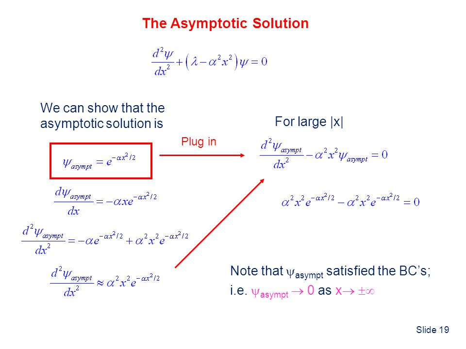 The Asymptotic Solution