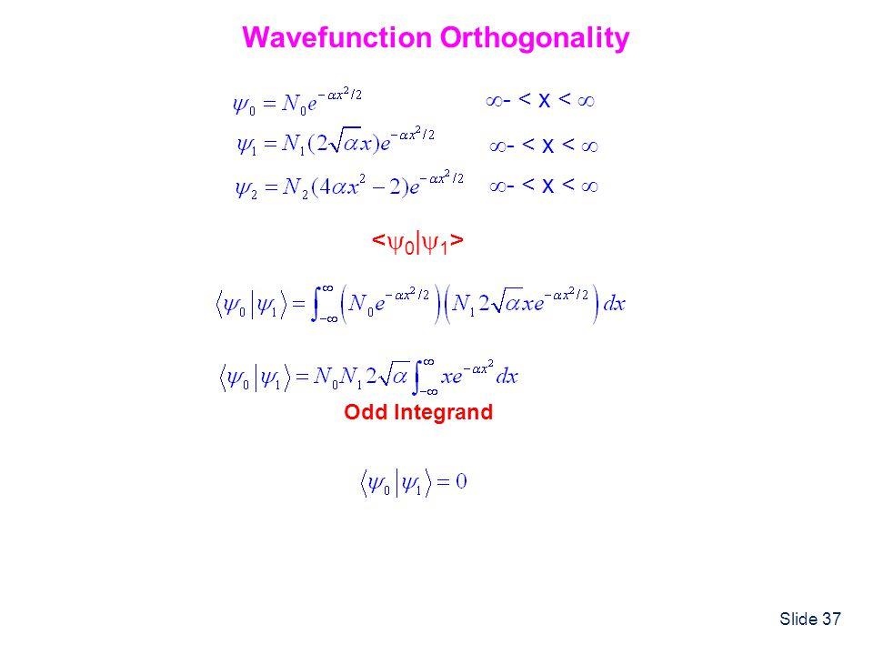 Wavefunction Orthogonality