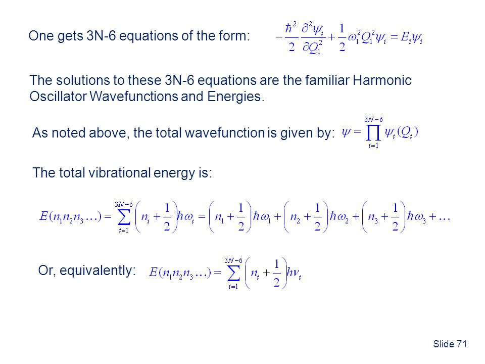 One gets 3N-6 equations of the form:
