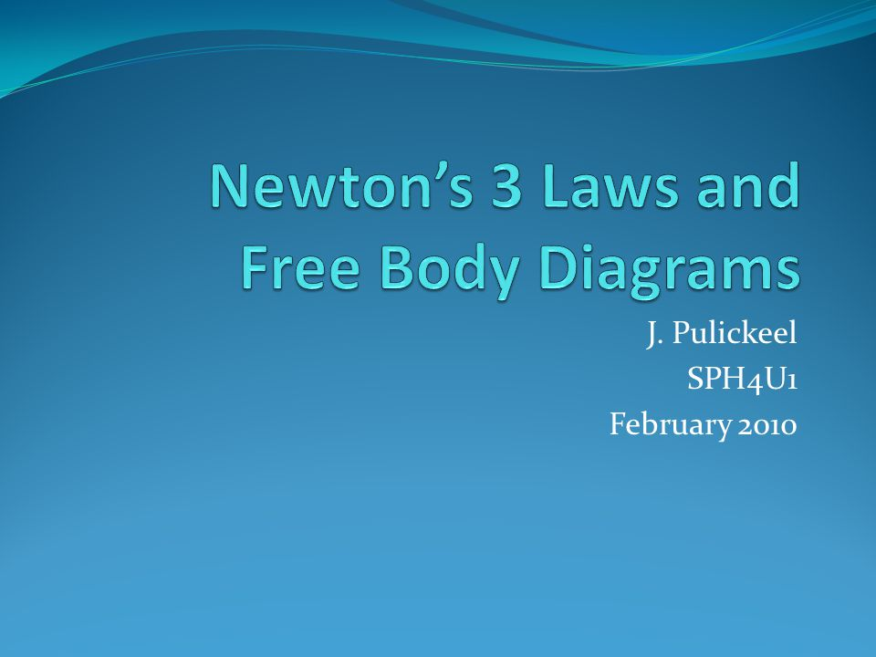 Newton's 3 Laws and Free Body Diagrams