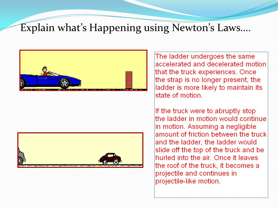 Explain what's Happening using Newton's Laws….