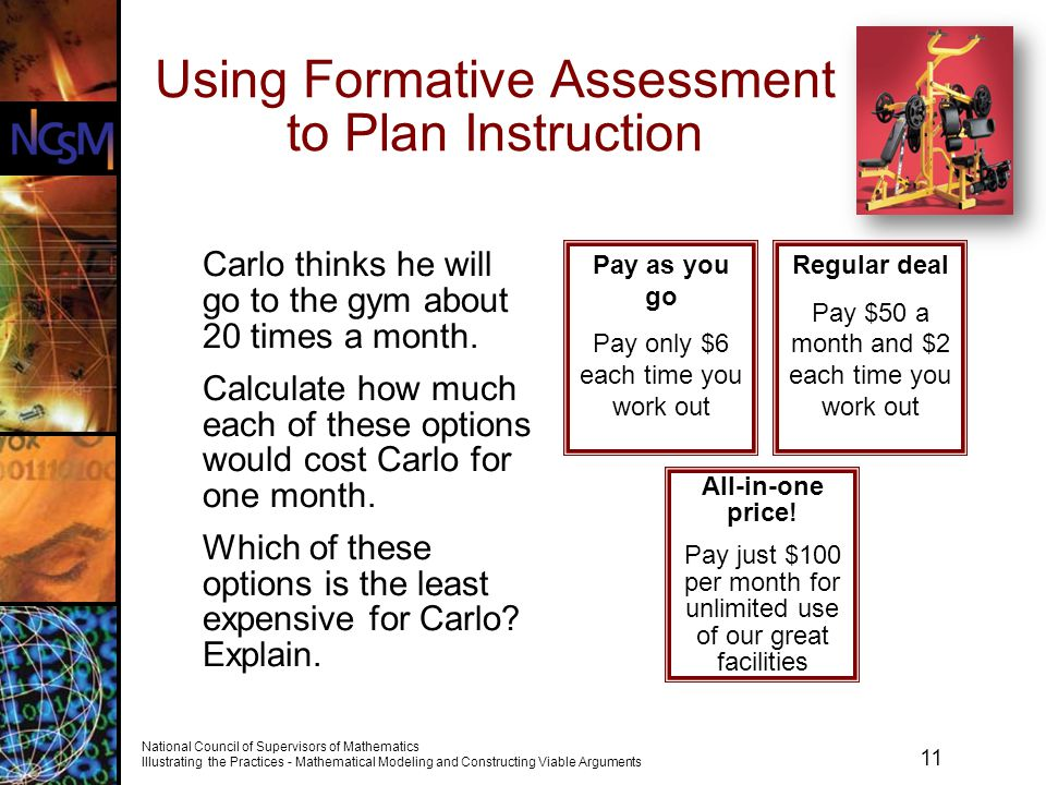 Using Formative Assessment to Plan Instruction