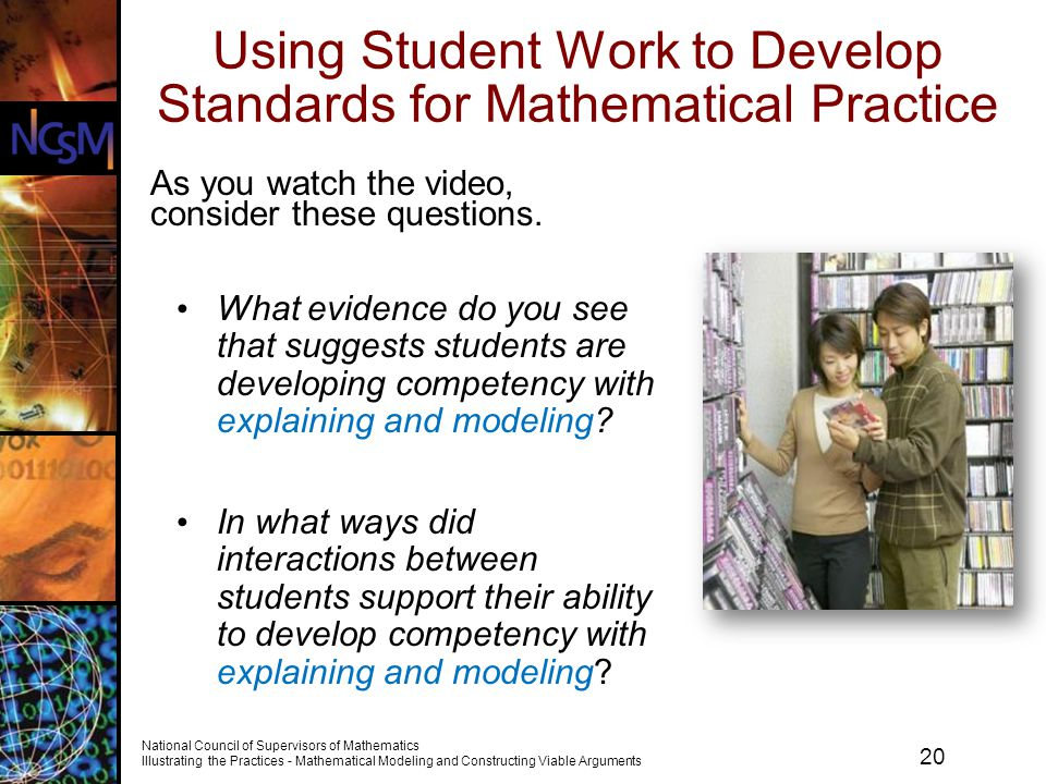 Using Student Work to Develop Standards for Mathematical Practice