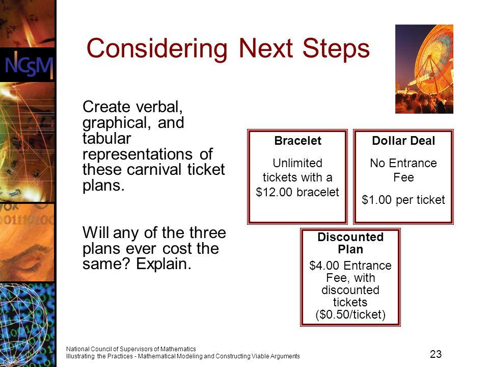 Considering Next Steps