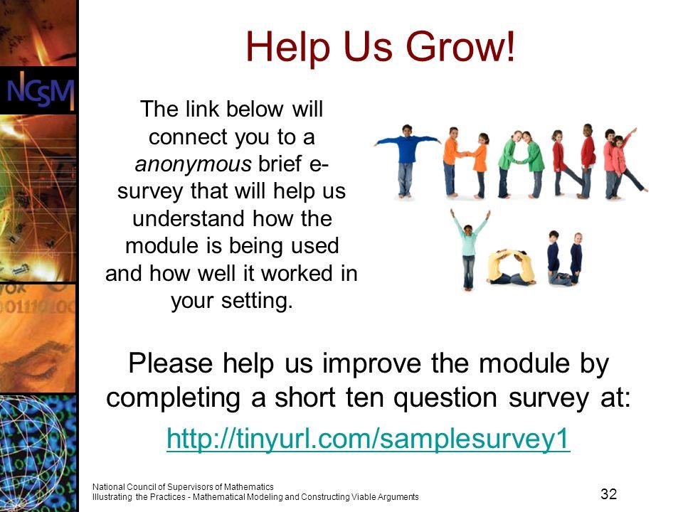 Help Us Grow!