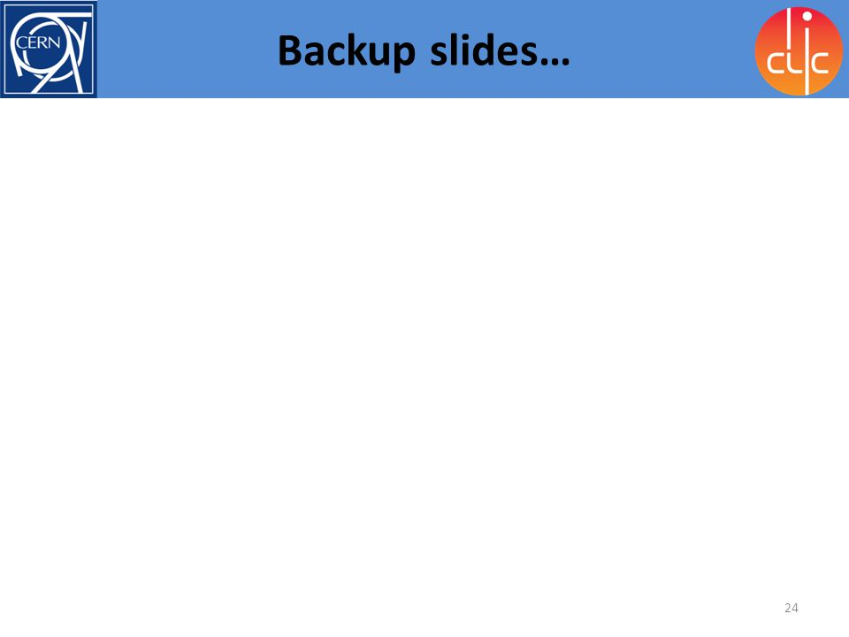 CLIC meeting Backup slides…