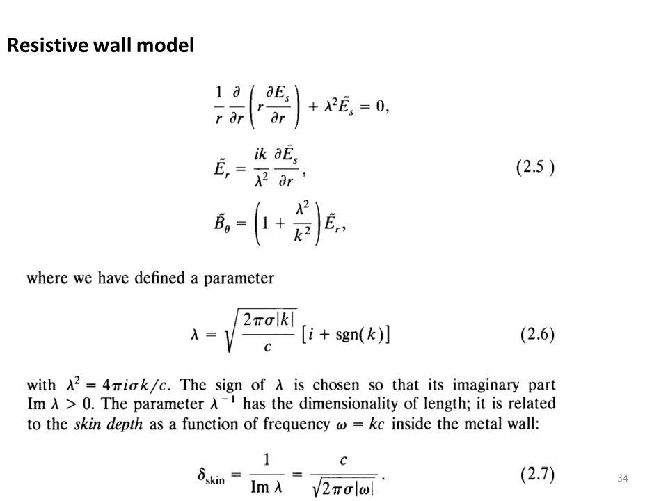 Resistive wall model