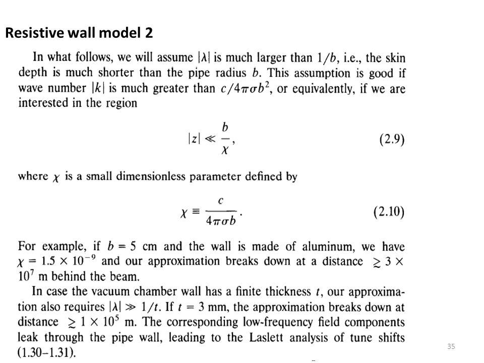 Resistive wall model 2