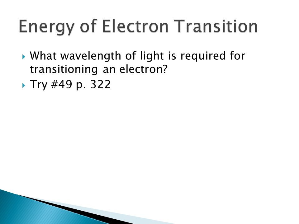 Energy of Electron Transition