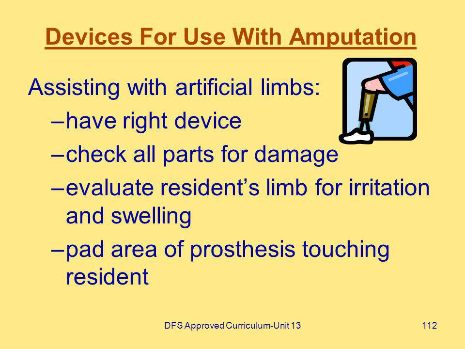 Devices For Use With Amputation