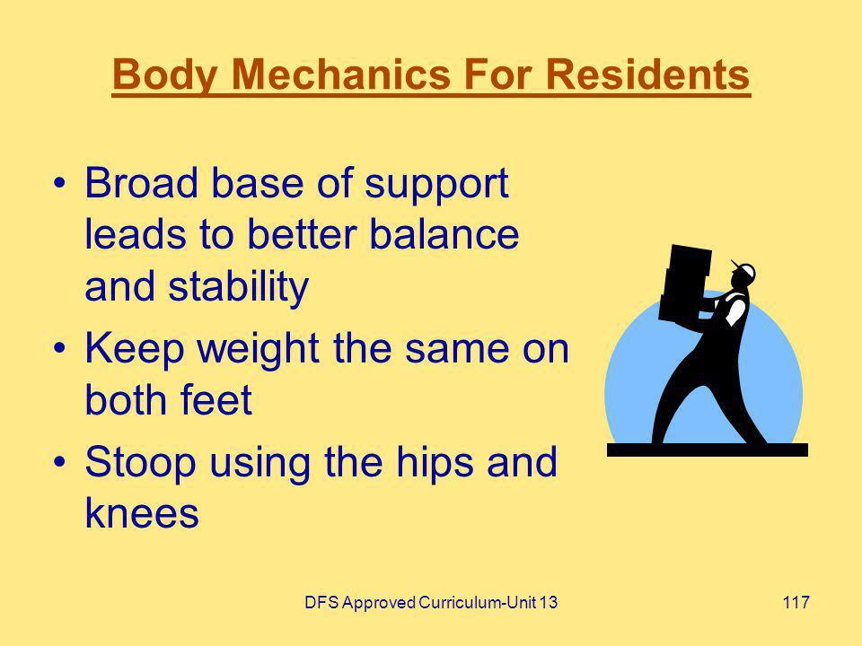 Body Mechanics For Residents