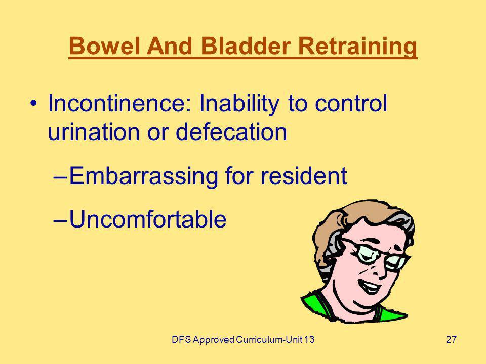 Bowel And Bladder Retraining