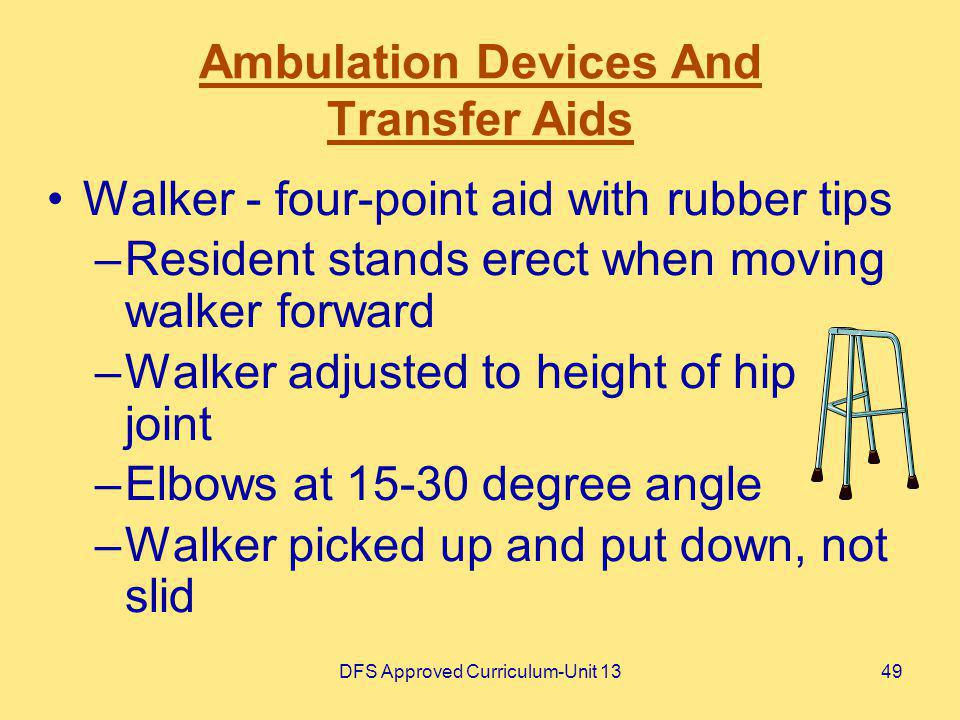Ambulation Devices And Transfer Aids