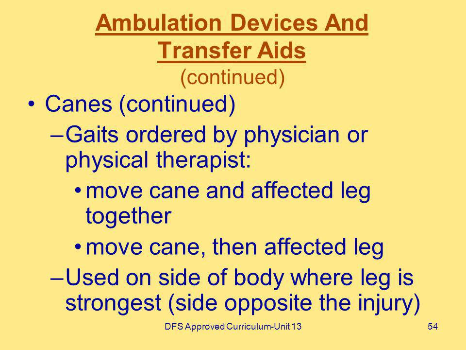 Ambulation Devices And Transfer Aids (continued)