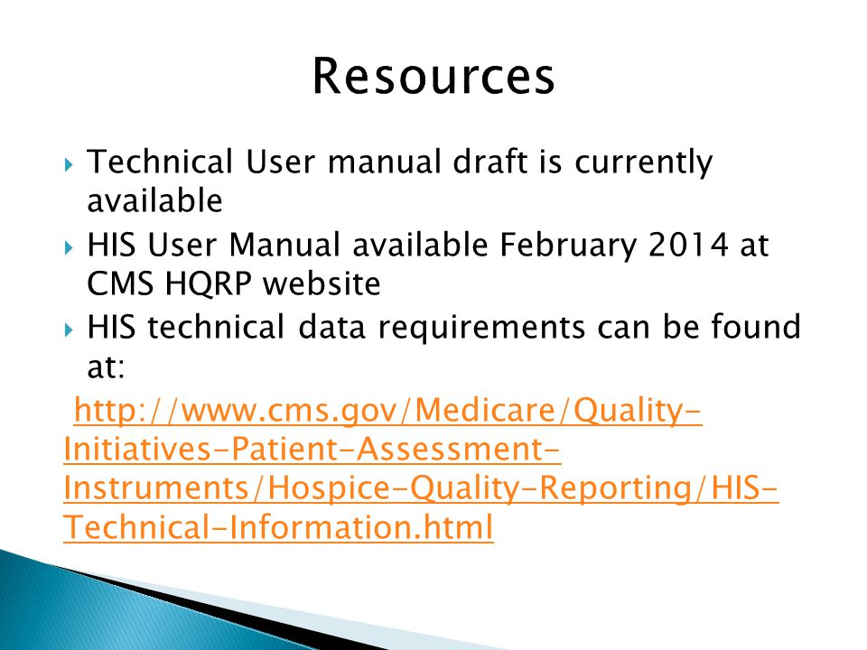 Resources Technical User manual draft is currently available