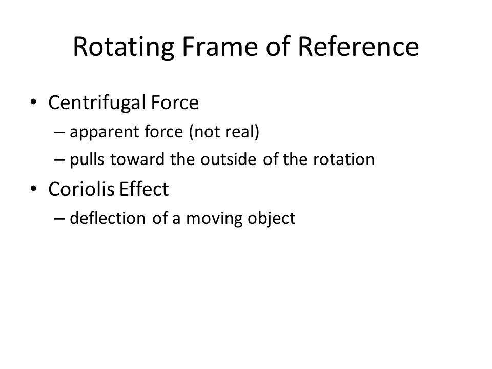 Rotating Frame of Reference