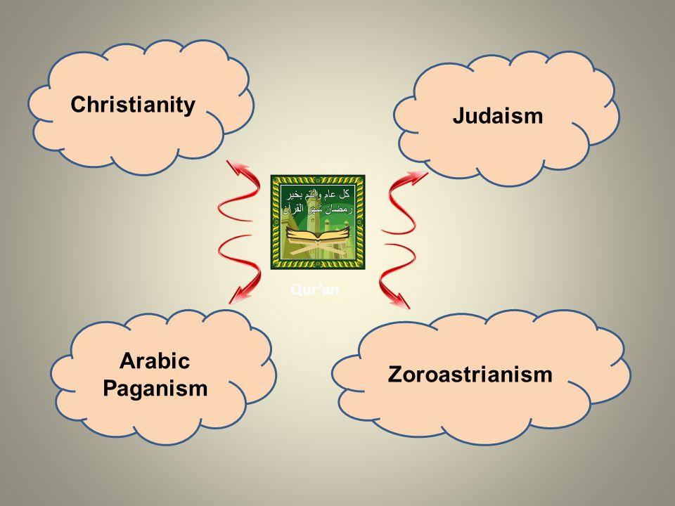 Christianity Judaism Arabic Paganism Zoroastrianism