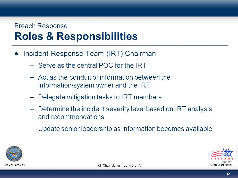 Breach Response Roles & Responsibilities