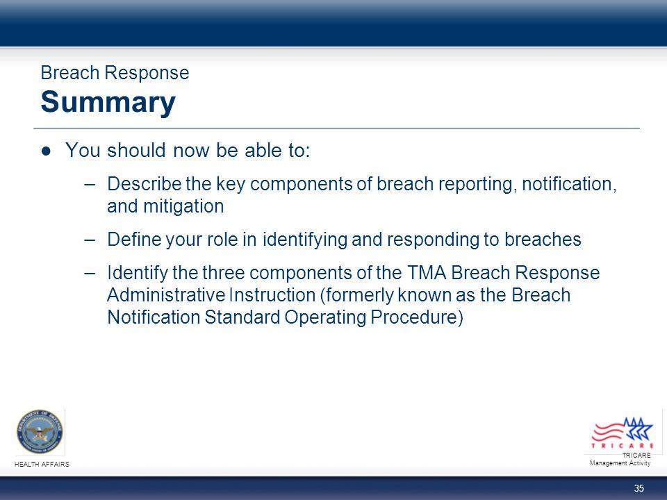 Breach Response Summary