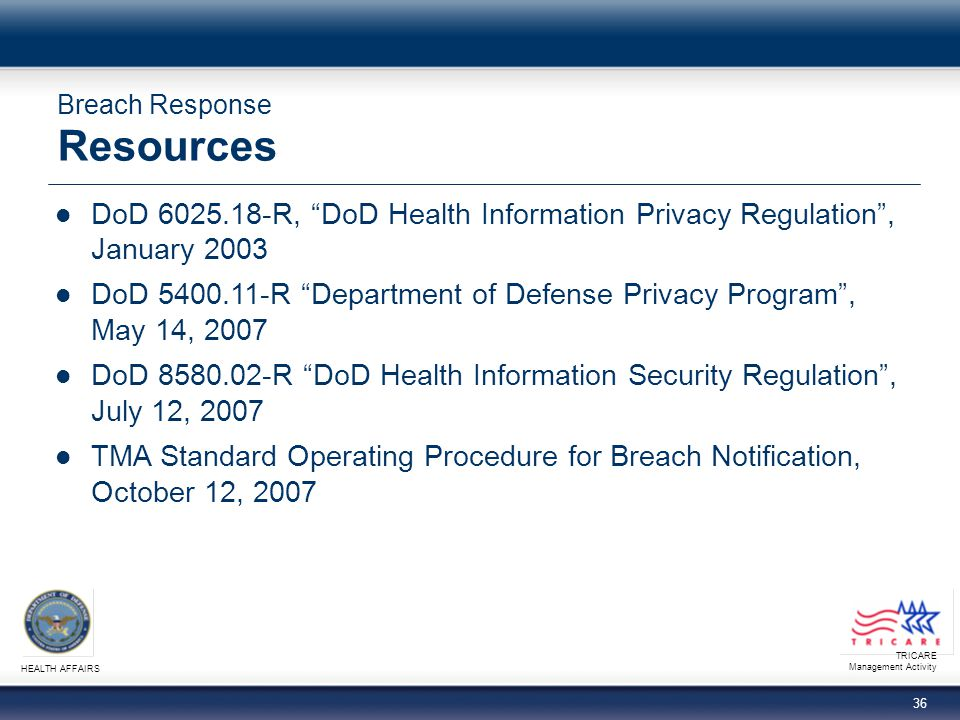 Breach Response Resources