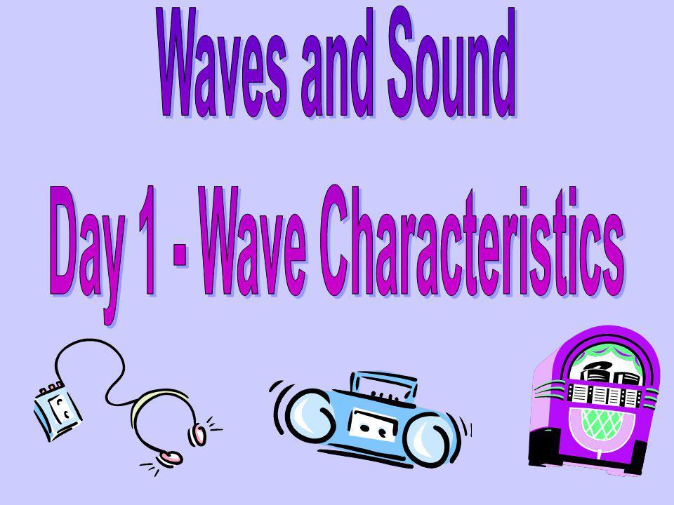 Day 1 - Wave Characteristics