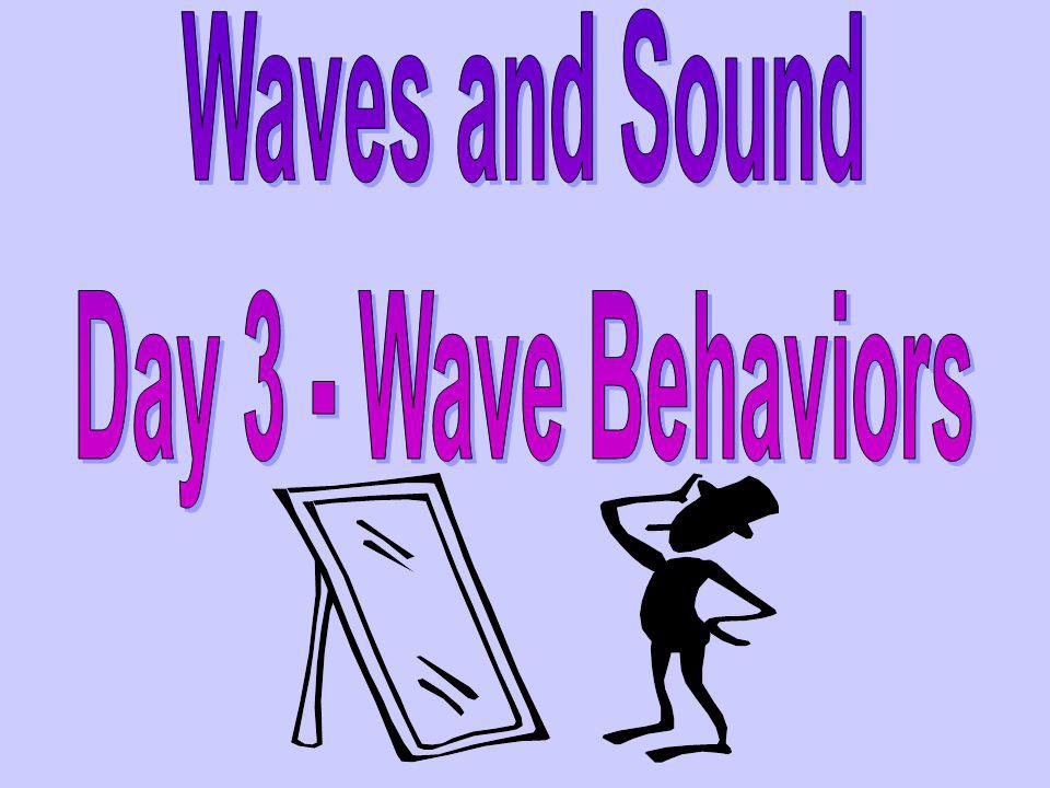 Waves and Sound Day 3 - Wave Behaviors