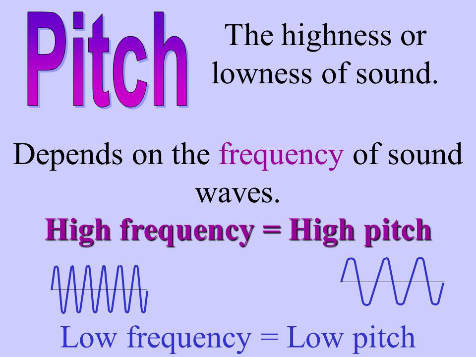 High frequency = High pitch